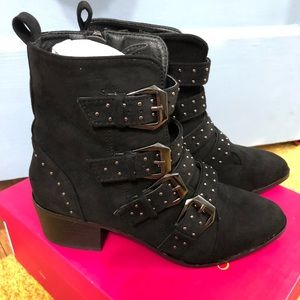 Catherine Malandrino Patsy MultiStrap Buckle Boots